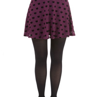 Miss Whiskers Skirt in Plum | Mod Retro Vintage Skirts | ModCloth.com