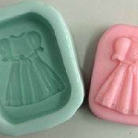 Soap Mold Candle Molds Baby Girl Cloth Dress Christmas Gift  Silicone Mold, For Soap, Candy,Cake, Ice,Craft