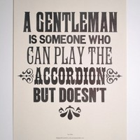 Tom Waits A Gentleman Print | The Hambledon