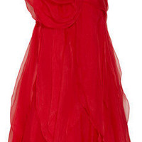 Notte by Marchesa | Rosette-embellished organza dress | NET-A-PORTER.COM