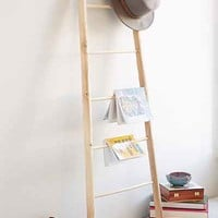 Willow Ladder Shelf- Light Brown One
