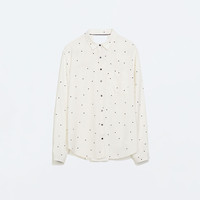 Contrast detail shirt