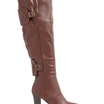 Two Over One Heeled Boots