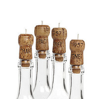 Z Gallerie - Champagne Cork Candles - Set of 4