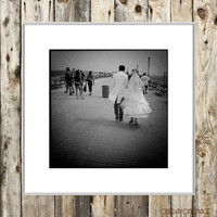 Boardwalk Nuptials Square - Coney Island - Brooklyn - Square Fine Art Print