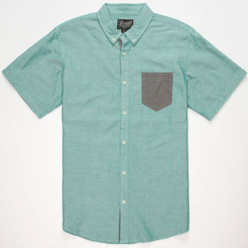 Retrofit Nathan Mens Shirt Mint  In Sizes