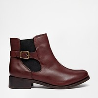 New Look Digby Red Leather Chelsea Boots at asos.com