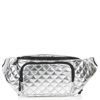 Quilted Bumbag - Silver
