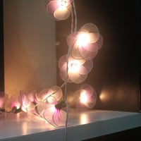 20 LED  Battery Powered Soft Pink Flower String Lights for Home Decoration,Wedding,Party,Bedroom,Patio and Decoration