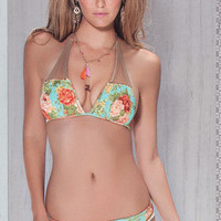 Agua Bendita 2012: Bendito Borgona Two Piece Swimsuit Halter Bikini AF50252G1 | Swimwear Boutique