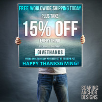 15% OFF Everything + FREE Worldwide Shipping...for 24 hours Nov 27! by soaring anchor designs ⚓ | Society6