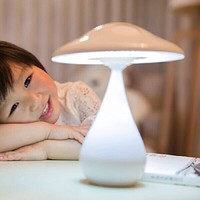 ECVISION® Air Purified LED Desk Lamp / Rechargeable Energy Saving Book Light with Touch Adjustable Brightness / Health Anion Anti-radiation (White)