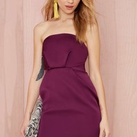 Cameo Play with Fire Strapless Dress - Purple