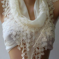 Pearl Color - Scarf - Bridesmaids Gifts -  Super Soft - Elegance Scarf