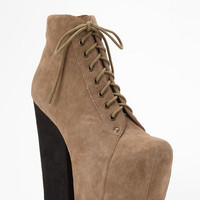Jeffrey Campbell Freda Suede Lace-Up Platform