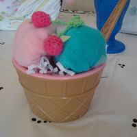 Baby Wash cloth ice cream cups