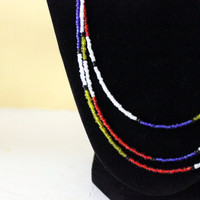 Color-Blocked Bead Necklace: Mondrian Inspired Seed Bead Necklace