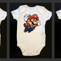 Costumed Mario Bros Trio Onesuit or Tees