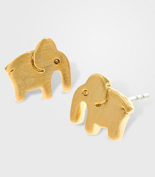 Mini Elephant Earrings