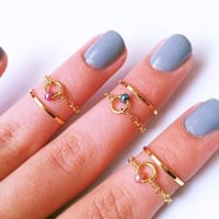 Above The Knuckle Rings - 14k Gold .. on Luulla