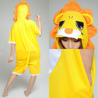 Yellow Tiger Half Sleeves Pattern Cotton Kigurumi Costume Animal Pajamas [C20120735] - £29.97 : Zentai, Sexy Lingerie, Zentai Suit, Chemise
