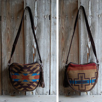 Sale Aztec Navajo Brown Leather bag by hoakonhelga on Etsy