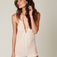 Intimately Halter Swiss Dot Playsuit at Free People Clothing Boutique