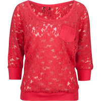 FULL TILT Lace Pocket Womens Top 202980313 | Knit Tops &amp; Tees | Tillys.com