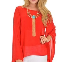 You Rang Top, Red :: NEW ARRIVALS :: The Blue Door Boutique
