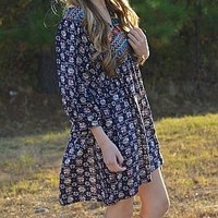 Fall in Love Dress, Navy :: NEW ARRIVALS :: The Blue Door Boutique