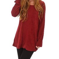 Center Lane Hoodie, Red :: NEW ARRIVALS :: The Blue Door Boutique