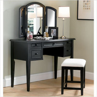 Powell 43 Antique Black Vanity Set - 502-290 | Just Vanities
