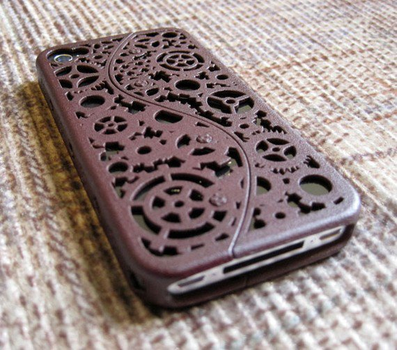 Verizon Redesign Designer Steampunk iPhone 4 by CWestbrookDesigns