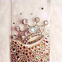 iPhone 4 case - iphone 4s case bling luxury crystal crown clear iphone 4G 4S hard case cover
