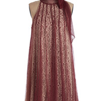 Time and Grace Dress in Merlot