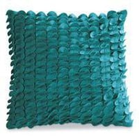 carly pillow - teal - a modern, contemporary pillow from chiasso
