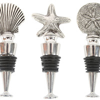 Assorted Seashore Bottle Stoppers, Set of 3, Bottle Stoppers