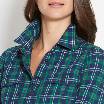 Yuletide Plaid Flannel Popover
