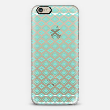 Turquoise Diamonds (transparent) iPhone 6 case by Lisa Argyropoulos | Casetify