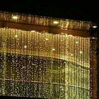 2013newestseller 300led Window Curtain Icicle Lights String Fairy Light Wedding Party Home Garden Decorations 3m*3m (Warm white)