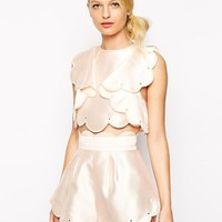 Alice McCall | Alice McCall Crop Top with Frills and Scallop Edge at ASOS