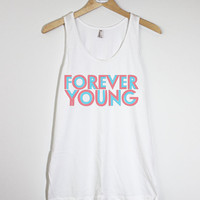 FOREVER YOUNG II - American Apparel Unisex  Fine Jersey Tank Top