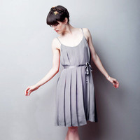 Let Them Eat Meringue Pleated Dress GRAY  Ready by alexandragrecco