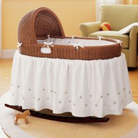 Baby Bassinets &amp; Baskets: Baby Honey Hand-Woven Bassinet