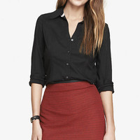 THE ORIGINAL LONG SLEEVE ESSENTIAL SHIRT from EXPRESS