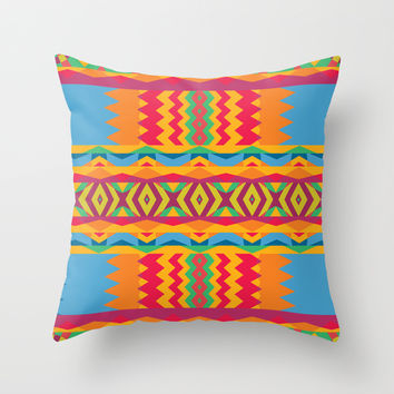 Mix #90 Throw Pillow by Ornaart