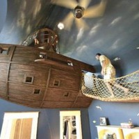Top Bedroom Design by Steve Kuhl Featuring a Pirate Ship - HomeConceptDecoration.Com | Home Interior Design | Modern Home Architecture | Modern Design Room Ideas