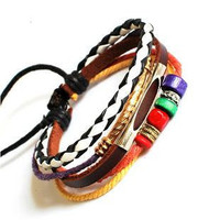Jewelry Bangle bracelet women Leather Bracelet Girl Ropes Bracelet Men Leather Bracelet 691A