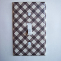 Brown & Cream Lattice Single Toggle Switchplate
