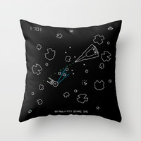 Astaroids Throw Pillow by Barn Bocock
